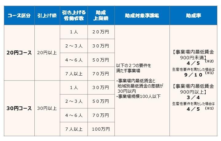 業務改善助成金20円30円コース